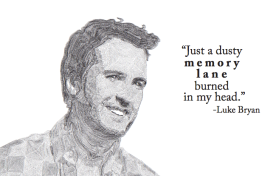 With a passion for design, I minored in graphic design at Cabrini College. This is a type portrait of country superstar, Luke Bryan, completed in Adobe Illustrator; 2014.