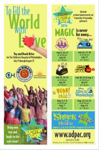 UD Summer Stage Bookmark