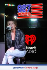 Carly Pearce performing in the 98.7 WMZQ Southwest Sound Stage